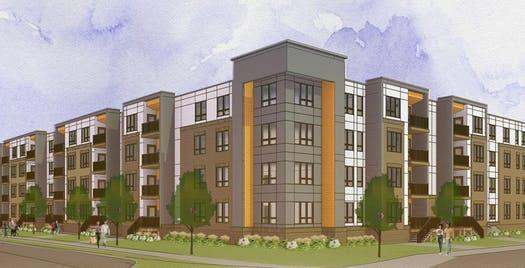 Apartment development heats up near Northstar commuter rail line